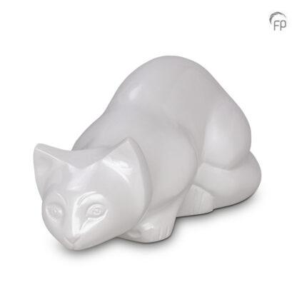 urn kat liggend wit