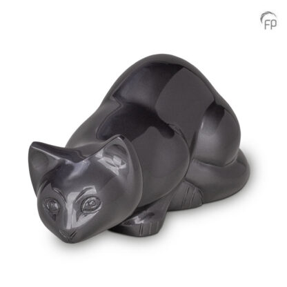 urn kat liggend grijs