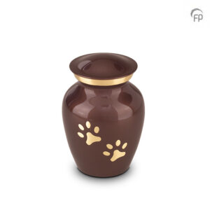 Dierenurn bruin pootafdrukken - klein