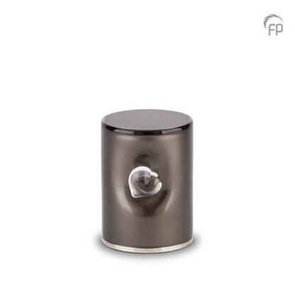 Crystal Heart urn grijs klein