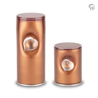 Crystal Heart urn bruin