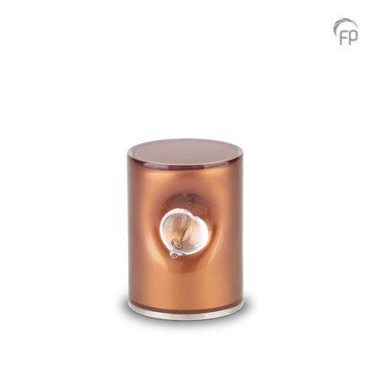 Crystal Heart urn bruin klein