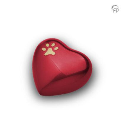 Dierenurn rood hartje
