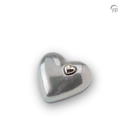 Hartjesurn grijs keramiek middel
