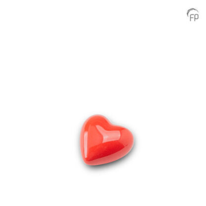 Hartjesurn rood keramiek klein
