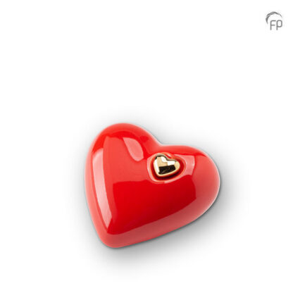 Hartjesurn rood keramiek middel