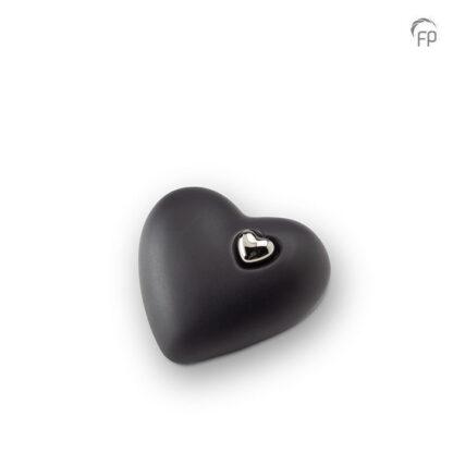 Hartjesurn zwart keramiek - mat - middel