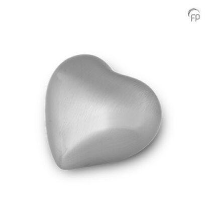 Mini urn zilveren hart - mat