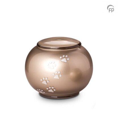 kristalglazen bolle dierenurn creme - Groot